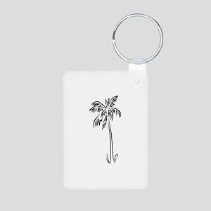 Palm Tree Aluminum Photo Keychain