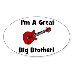 Great Big Brother (guitar) Oval Decal