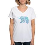 Celtic Polar Bear Women's V-Neck T-Shirt