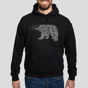 Celtic Polar Bear Hoodie (dark)