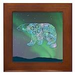 Celtic Polar Bear Framed Tile