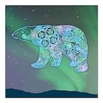 Celtic Polar Bear Square Car Magnet 3