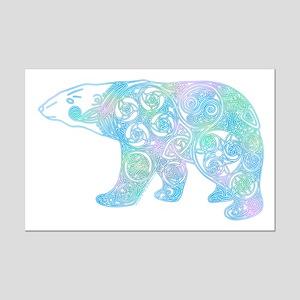 Celtic Polar Bear Mini Poster Print