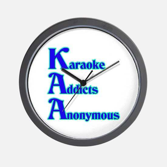 Karaoke Addicts Anonymous Wall Clock