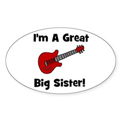Great Big Sister (guitar) Oval Decal