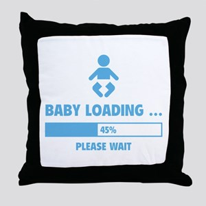 Baby Loading Throw Pillow