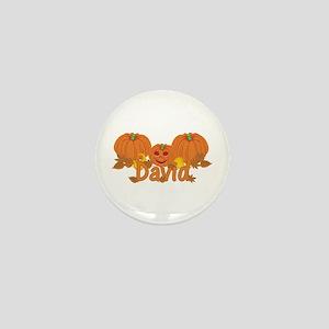 Halloween Pumpkin David Mini Button