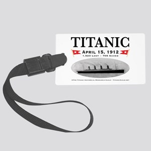 Titanic Ghost Ship (white) Large Luggage Tag w/ID