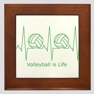 Volleyball is Life Framed Tile