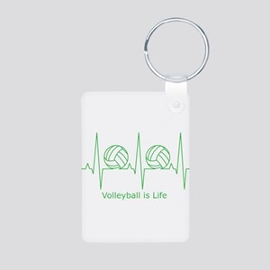 Volleyball is Life Aluminum Photo Keychain