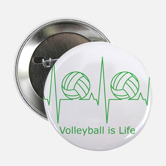 "Volleyball is Life 2.25"" Button"