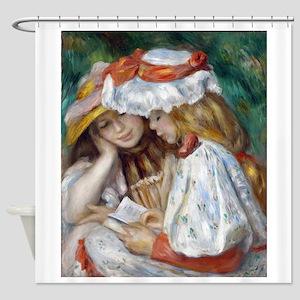 Renoir - 2 Girls Reading Shower Curtain
