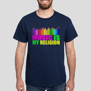 Music is My Religion Shirt Dark T-Shirt