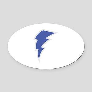 Lightning Oval Car Magnet