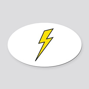 Lightning Oval Car Magnet