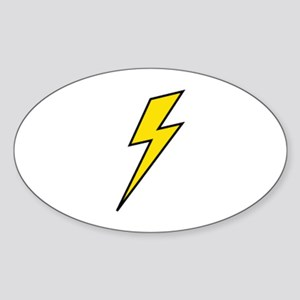 Lightning Sticker (Oval)