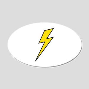 Lightning 22x14 Oval Wall Peel