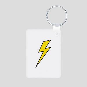 Lightning Aluminum Photo Keychain