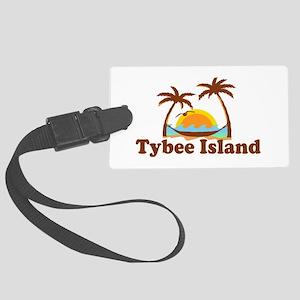 Tybee Island GA - Palm Trees Design. Large Luggage