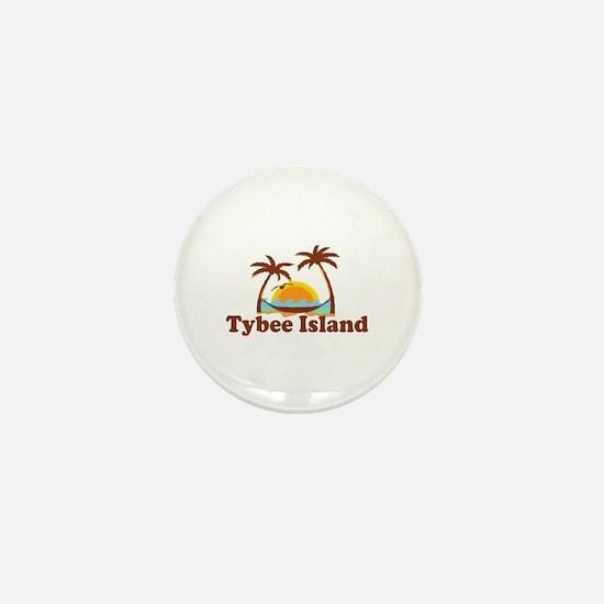 Tybee Island GA - Palm Trees Design. Mini Button