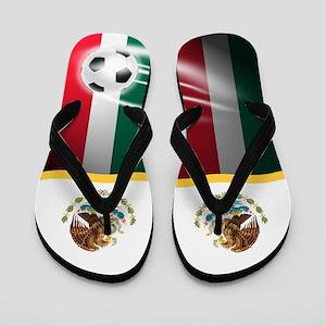 Mexico Mexican Mexicano Futbol Soccer Flip Flops