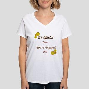 Summer, Fall Engagements Women's V-Neck T-Shirt