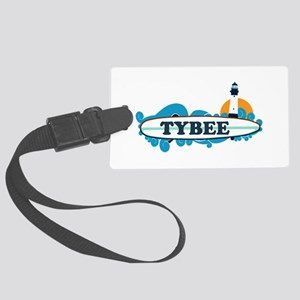 Tybee Island GA - Surf Design. Large Luggage Tag