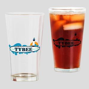 Tybee Island GA - Surf Design. Drinking Glass