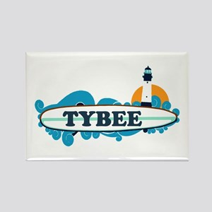Tybee Island GA - Surf Design. Rectangle Magnet