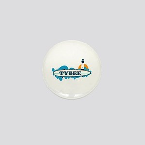 Tybee Island GA - Surf Design. Mini Button