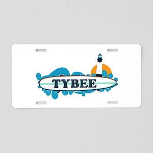 Tybee Island GA - Surf Design. Aluminum License Pl