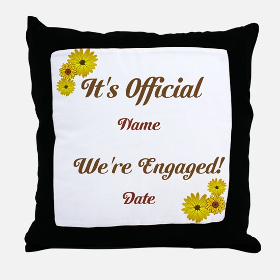 Summer, Fall Engagements Throw Pillow