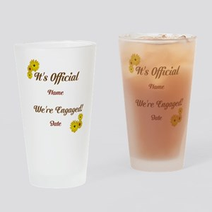 Summer, Fall Engagements Drinking Glass