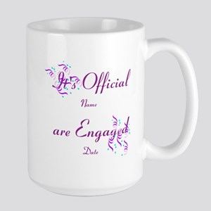 Its Official, Were Engaged Large Mug