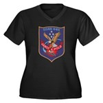 USS JAMES K. Women's Plus Size V-Neck Dark T-Shirt