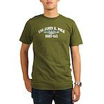 USS JAMES K. POLK Organic Men's T-Shirt (dark)