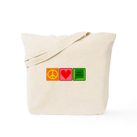 Peace Love New Mexico Tote Bag