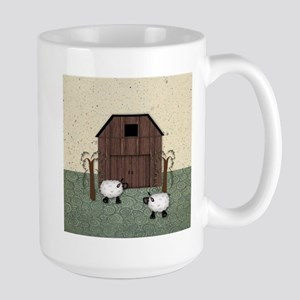 Barn Sheep Stainless Steel Travel Mugs