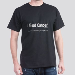 I Beat Cancer! Black T-Shirt