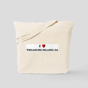 I Love TREASURE ISLAND Tote Bag