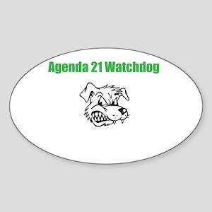 AG21 Dog Sticker (Oval)