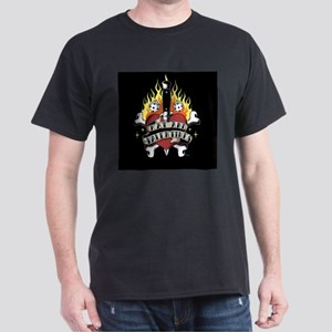 Kat & the Valentines Heart Logo Dark T-Shirt