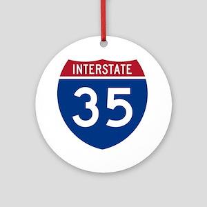 I-35 Ornament (Round)