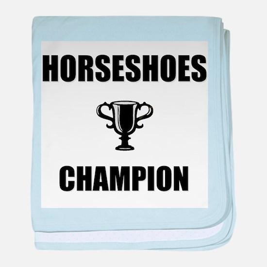 horseshoes champ baby blanket