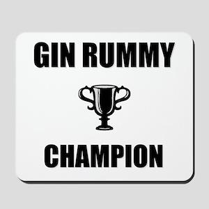 gin rummy champ Mousepad