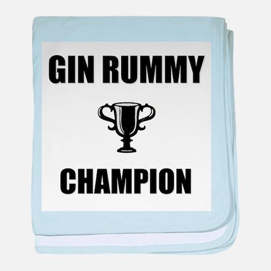 gin rummy champ baby blanket
