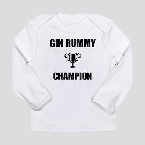 gin rummy champ Long Sleeve Infant T-Shirt