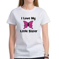 Love My Little Sister (butter Women's T-Shirt