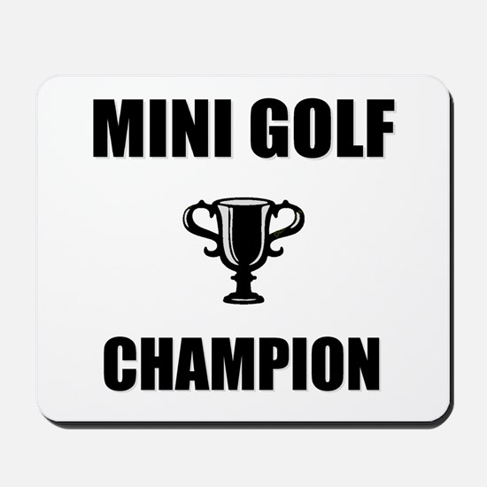 mini golf champ Mousepad