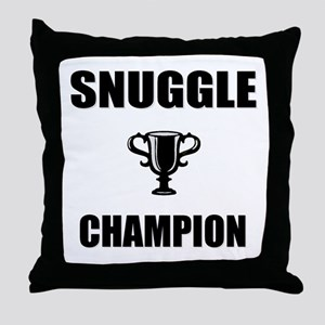 snuggle champ Throw Pillow
